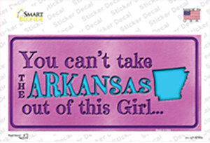 Arkansas Outta This Girl Wholesale Novelty Sticker Decal