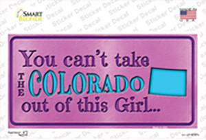 Colorado Outta This Girl Wholesale Novelty Sticker Decal