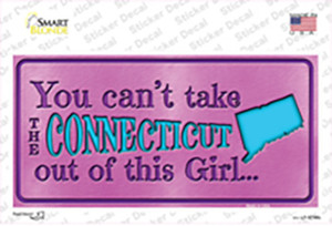 Connecticut Outta This Girl Wholesale Novelty Sticker Decal