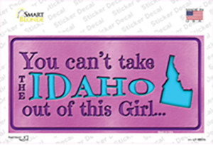 Idaho Outta This Girl Wholesale Novelty Sticker Decal