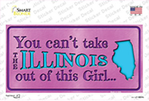 Illinois Outta This Girl Wholesale Novelty Sticker Decal