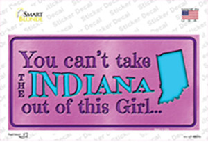 Indiana Outta This Girl Wholesale Novelty Sticker Decal