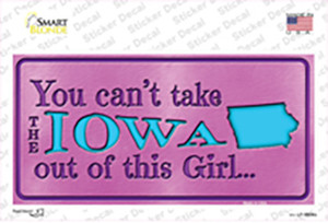 Iowa Outta This Girl Wholesale Novelty Sticker Decal