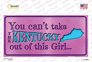 Kentucky Outta This Girl Wholesale Novelty Sticker Decal