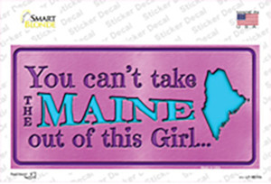 Maine Outta This Girl Wholesale Novelty Sticker Decal