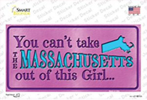 Massachusetts Outta This Girl Wholesale Novelty Sticker Decal