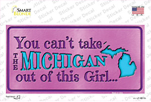 Michigan Outta This Girl Wholesale Novelty Sticker Decal