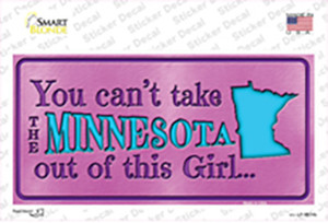 Minnesota Outta This Girl Wholesale Novelty Sticker Decal