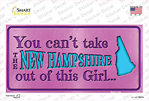 New Hampshire Outta This Girl Wholesale Novelty Sticker Decal