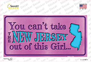 New Jersey Outta This Girl Wholesale Novelty Sticker Decal
