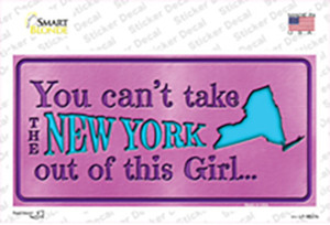 New York Outta This Girl Wholesale Novelty Sticker Decal