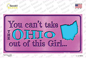 Ohio Outta This Girl Wholesale Novelty Sticker Decal
