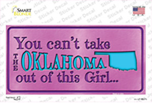 Oklahoma Outta This Girl Wholesale Novelty Sticker Decal