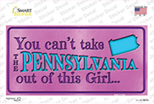 Pennsylvania Outta This Girl Wholesale Novelty Sticker Decal
