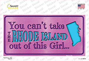 Rhode Island Outta This Girl Wholesale Novelty Sticker Decal