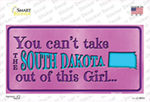 South Dakota Outta This Girl Wholesale Novelty Sticker Decal