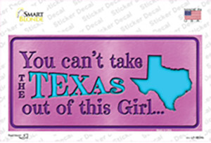 Texas Girl Outta This Pink Wholesale Novelty Sticker Decal