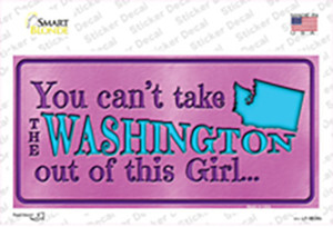 Washington Outta This Girl Wholesale Novelty Sticker Decal