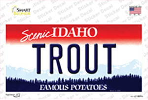 Trout Idaho Wholesale Novelty Sticker Decal