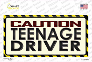 Caution Teenage Driver Wholesale Novelty Sticker Decal