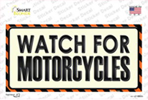 Watch For Motorcycle Wholesale Novelty Sticker Decal