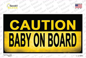 Caution Baby On Board Wholesale Novelty Sticker Decal