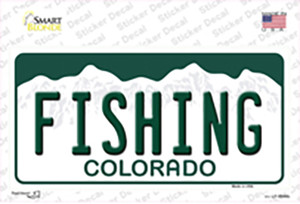 Fishing Colorado Wholesale Novelty Sticker Decal