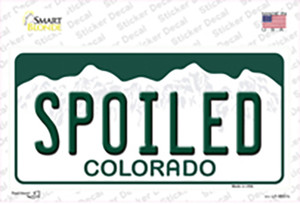 Spoiled Colorado Wholesale Novelty Sticker Decal