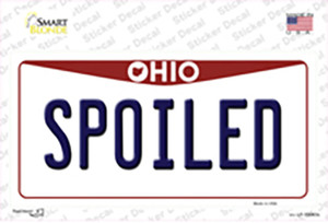 Spoiled Ohio Wholesale Novelty Sticker Decal