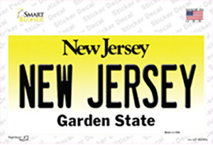 New Jersey Wholesale Novelty Sticker Decal