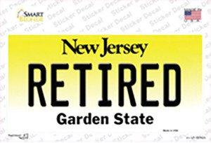 Retired New Jersey Wholesale Novelty Sticker Decal