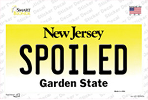 Spoiled New Jersey Wholesale Novelty Sticker Decal