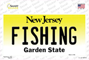 Fishing New Jersey Wholesale Novelty Sticker Decal