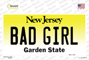 Bad Girl New Jersey Wholesale Novelty Sticker Decal