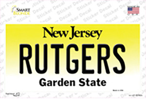 Rutgers New Jersey Wholesale Novelty Sticker Decal