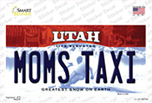 Moms Taxi Utah Wholesale Novelty Sticker Decal