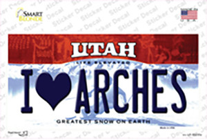 I Love Arches Utah Wholesale Novelty Sticker Decal