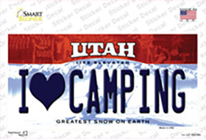 I Love Camping Utah Wholesale Novelty Sticker Decal