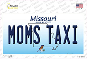 Moms Taxi Missouri Wholesale Novelty Sticker Decal
