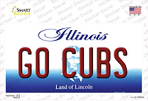 Go Cubs Illinois Wholesale Novelty Sticker Decal