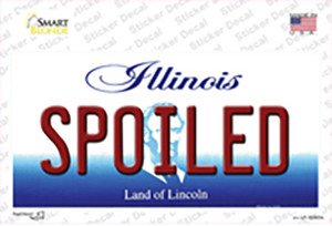 Spoiled Illinois Wholesale Novelty Sticker Decal