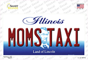 Moms Taxi Illinois Wholesale Novelty Sticker Decal