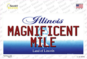 Magnificent Mile Illinois Wholesale Novelty Sticker Decal
