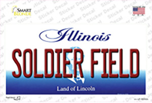 Soldier Field Illinois Wholesale Novelty Sticker Decal