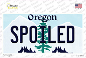 Spoiled Oregon Wholesale Novelty Sticker Decal