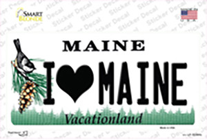 I Love Maine Wholesale Novelty Sticker Decal