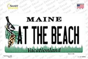 At The Beach Maine Wholesale Novelty Sticker Decal