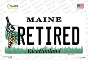 Retired Maine Wholesale Novelty Sticker Decal