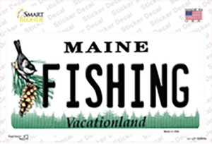 Fishing Maine Wholesale Novelty Sticker Decal