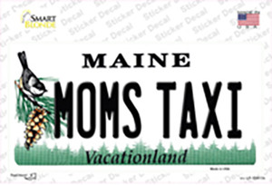 Moms Taxi Maine Wholesale Novelty Sticker Decal